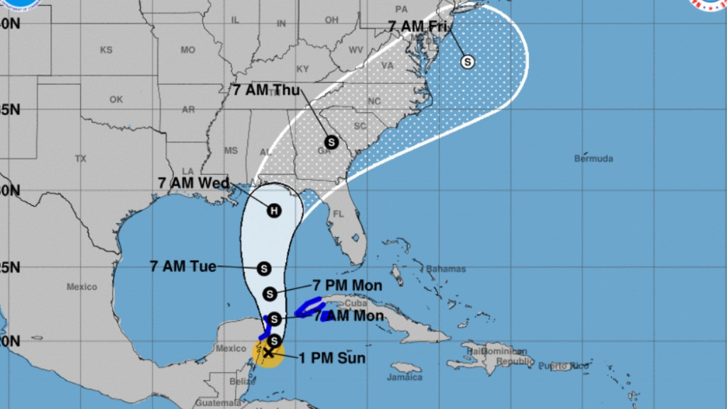 Tropical Storm Michael will likely slam the US as a hurricane this week