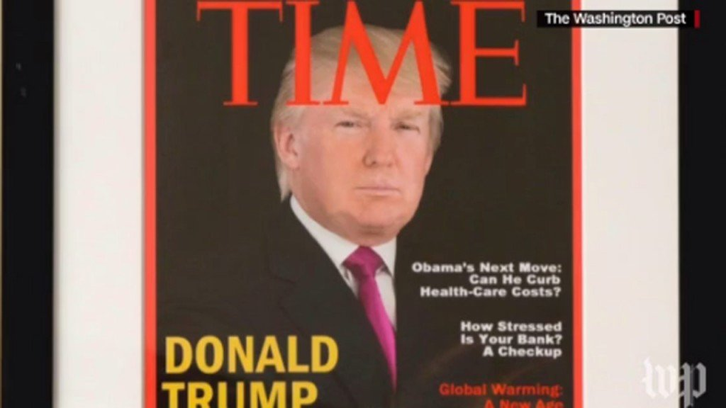 Trump golf clubs boast fake Time Magazine cover