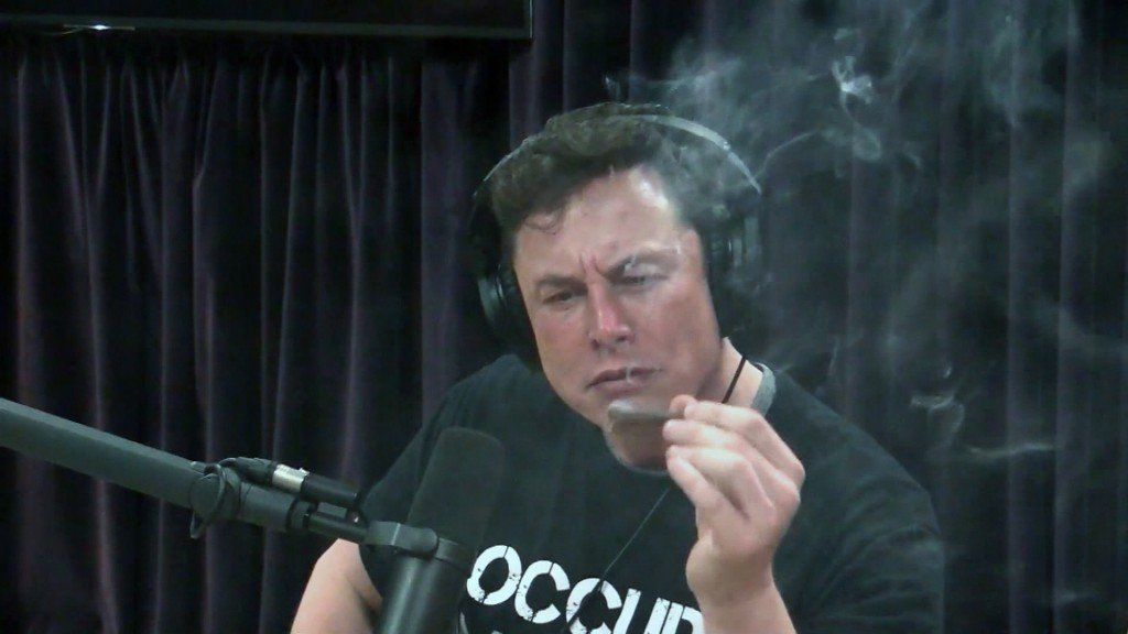 Elon Musk smokes marijuana on Joe Rogan's podcast