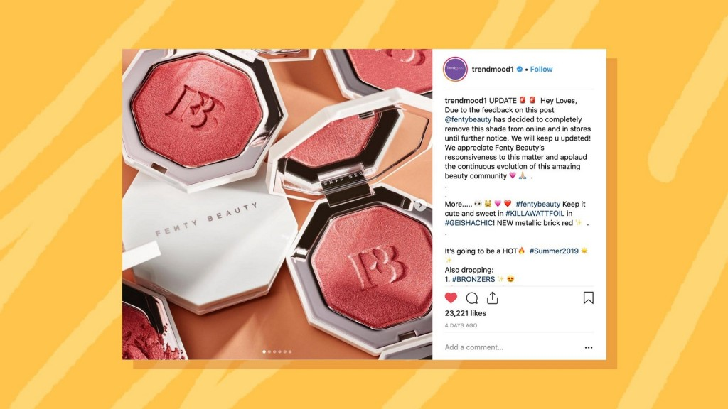 Rihanna's Fenty pulls 'Geisha Chic' highlighter after social backlash