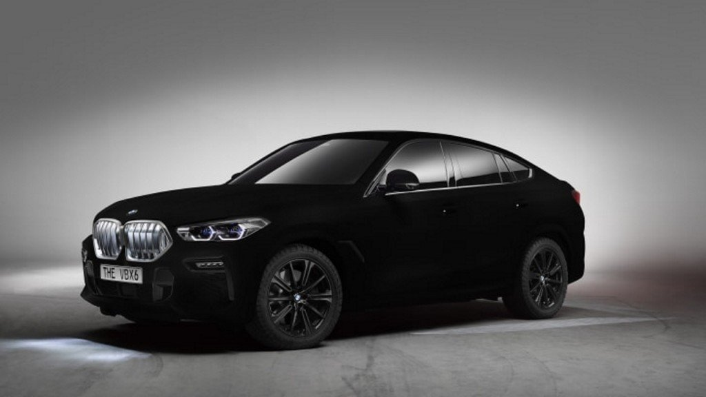 BMW unveils X6 in world's 'blackest black'