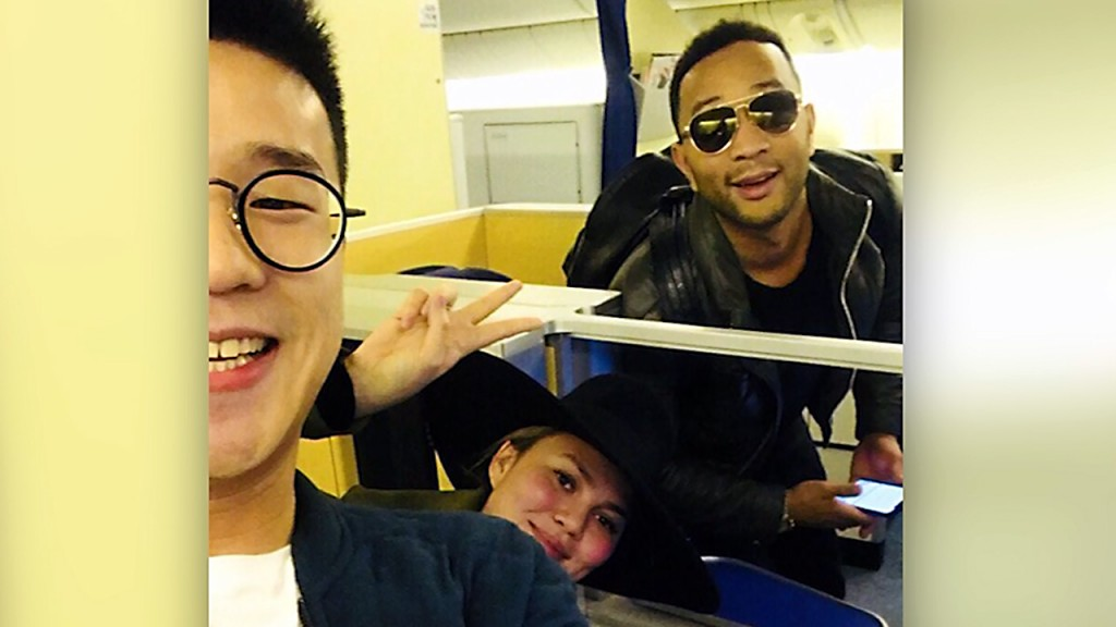 Teigen, Legend, passengers back in LA after 'mix-up'