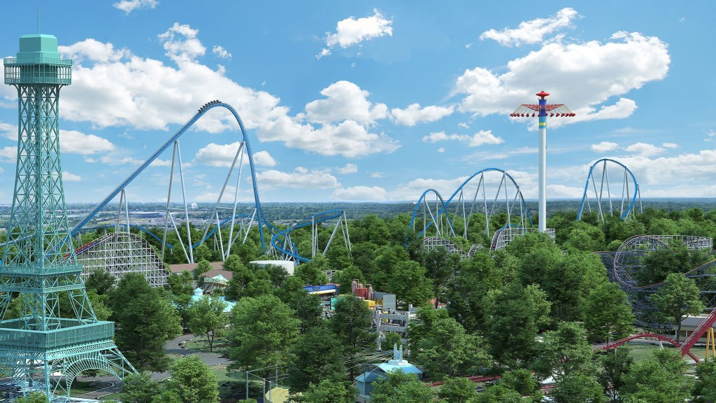 Ohio theme park unveils 'giga coaster' with 300-foot drop