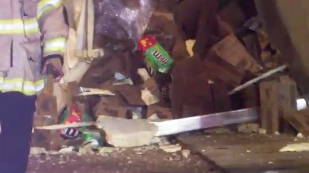 17 tons of candy crunched as truck spills load of M&M's on highway