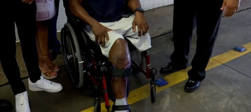 Georgia firefighter who lost leg has message: put down your phone