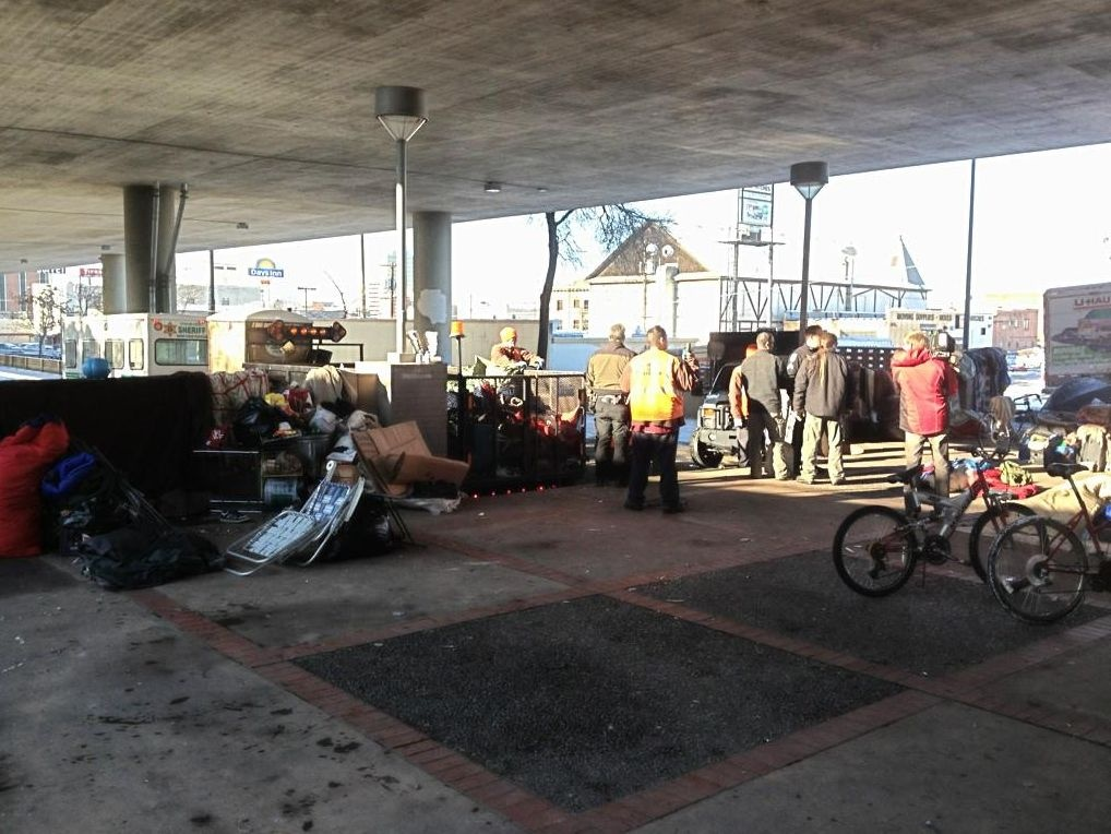 Homeless camps cleared out
