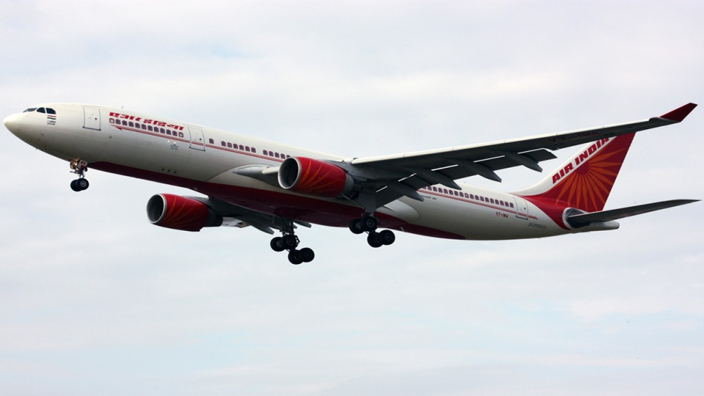 Air India plane hits wall on take off