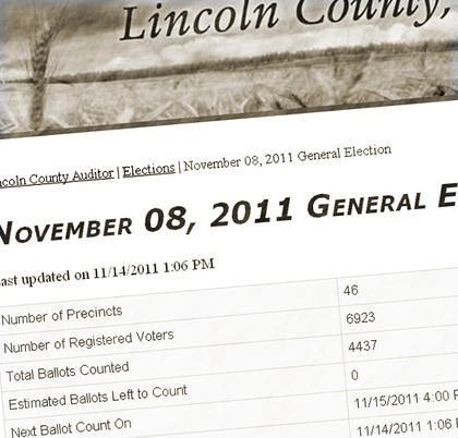 High Voter Turn Out in Lincoln and Pend Oreille County