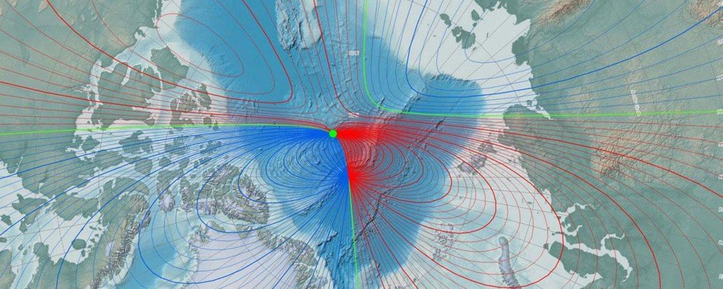 Earth's magnetic north pole heading for Russia