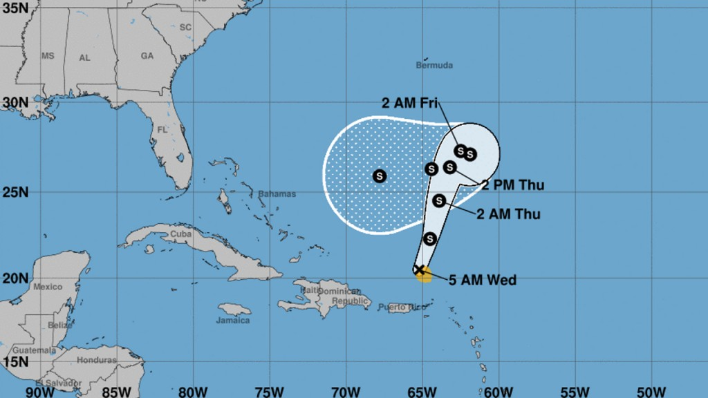 Tropical Storm Karen soaks Puerto Rico, Virgin Islands, speeds up