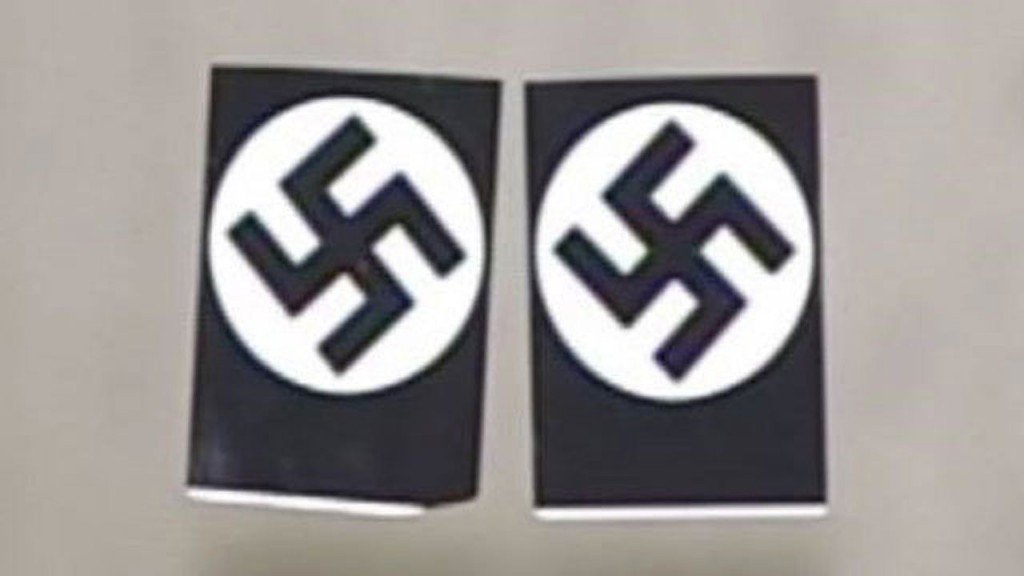 School plastered with swastikas after Holocaust survivor visit
