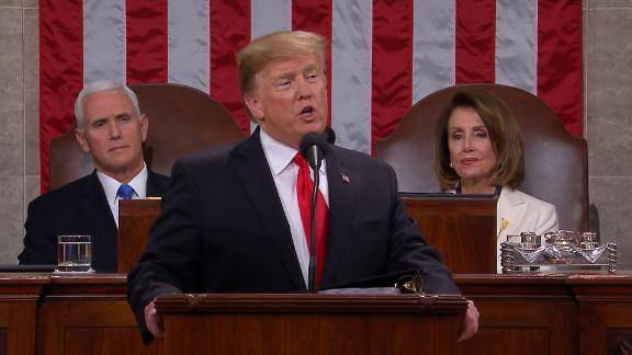 Trump calls for rejection of 'politics of revenge' in State of the Union