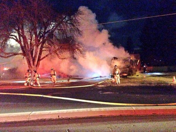 No injuries reported in motor home fire