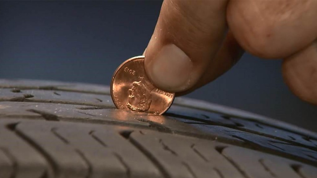 Easy tire tread safety test that only costs a penny
