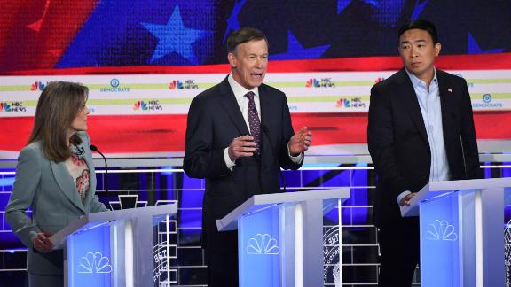 Yang claims mic was off at times during debate