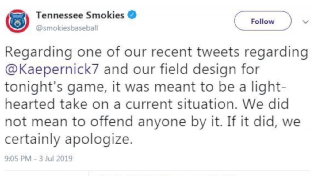 Cubs affiliate apologizes for tweet mocking Kaepernick
