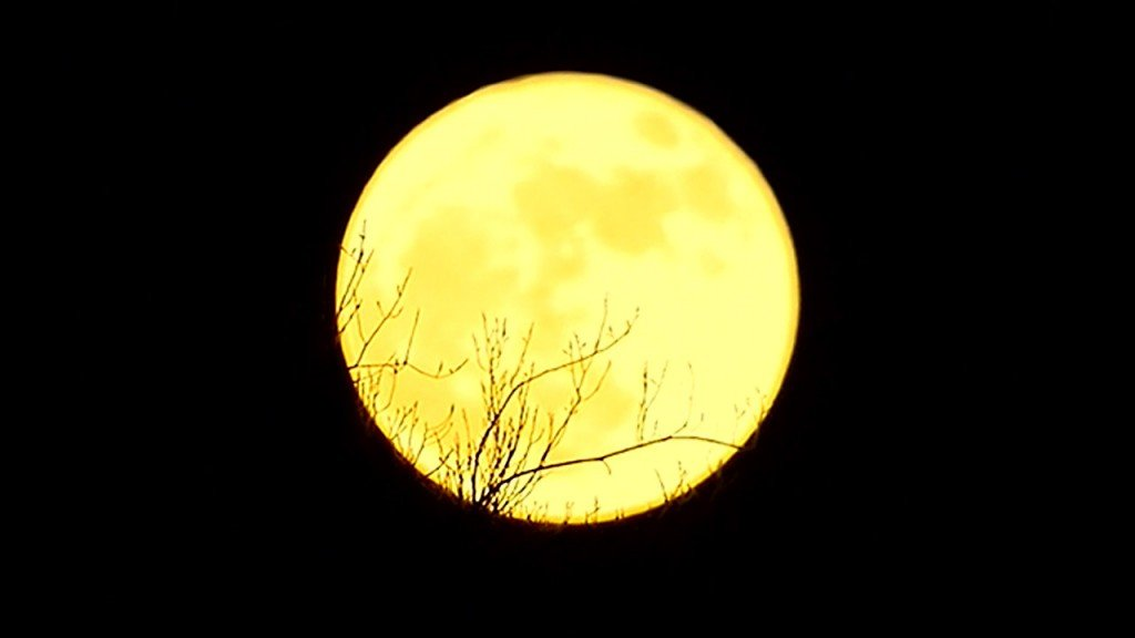 Supermoon lights up December sky