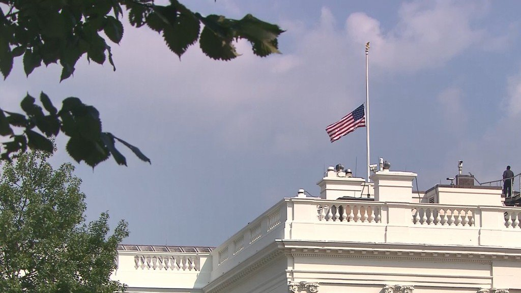 Trump orders flags lowered to honor McCain