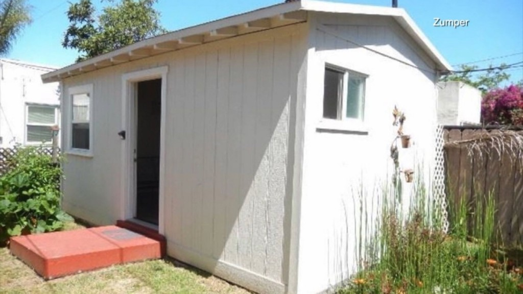 San Diego backyard shed rents for $1,050 a month