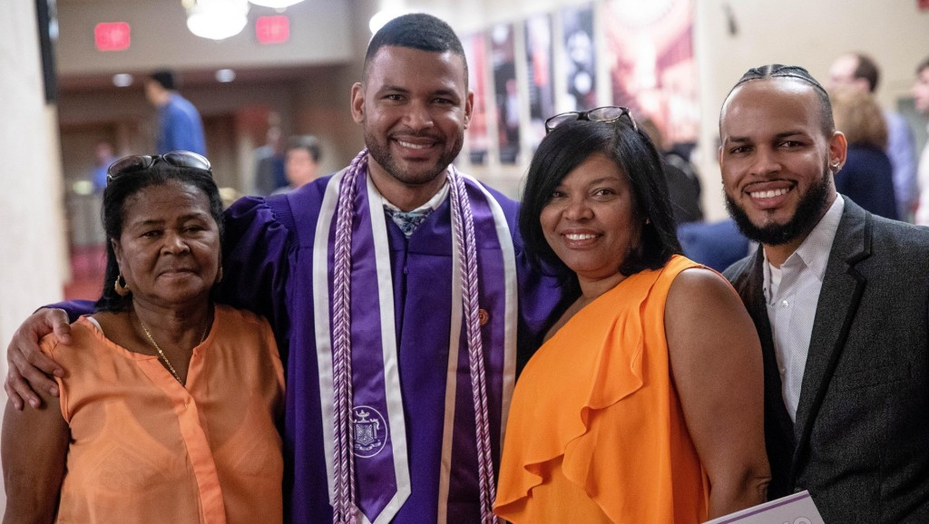 Nurse graduates from NYU years after he worked there as a janitor