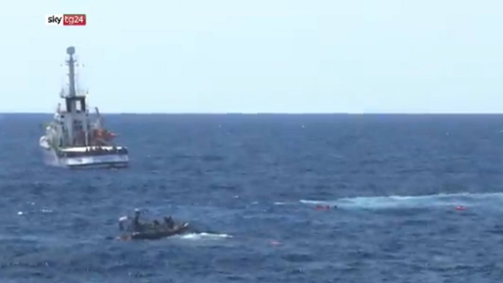 Spain sends ship to collect migrants stranded off Italy