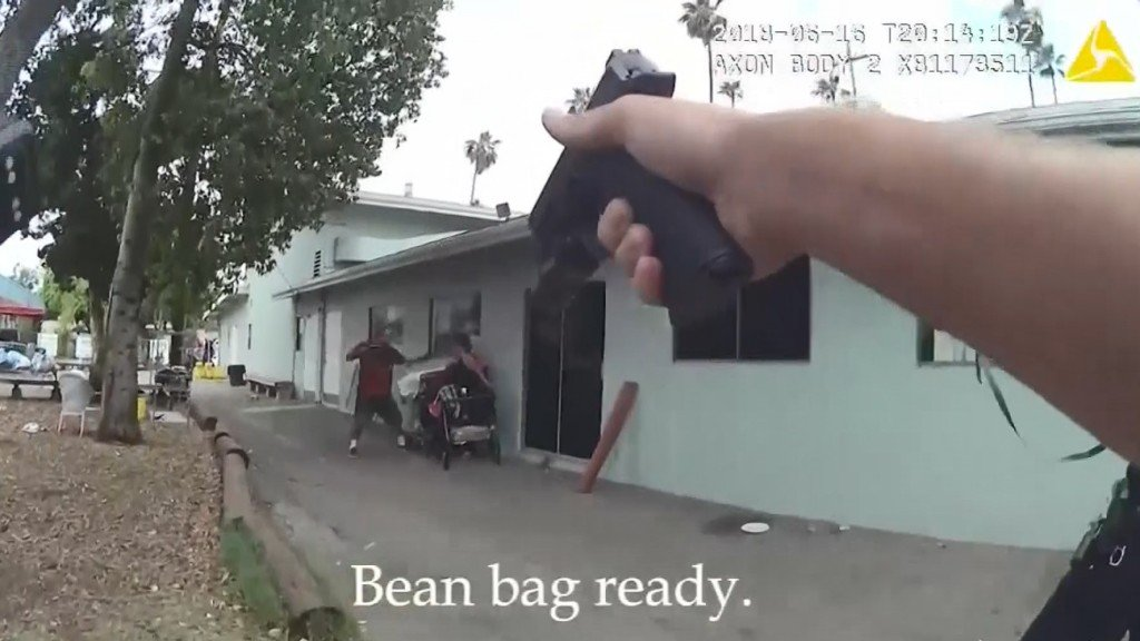 LAPD releases video of officers shooting knife-wielding man, hostage