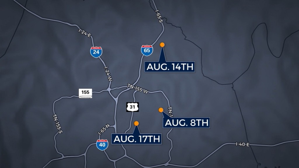 Nashville police find 2 men to question in 3 fatal shootings