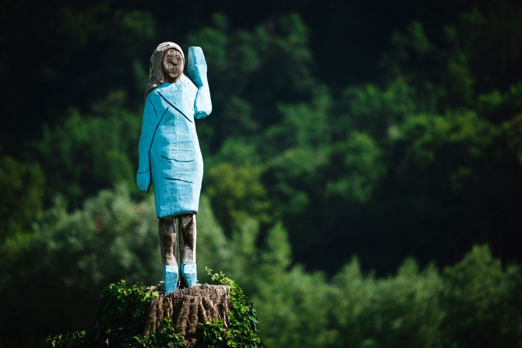 Melania Trump tree statue gets mixed reviews in her Slovenian hometown