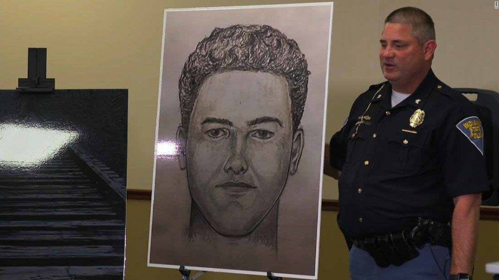 Indiana police release new sketch in search for man who killed girls