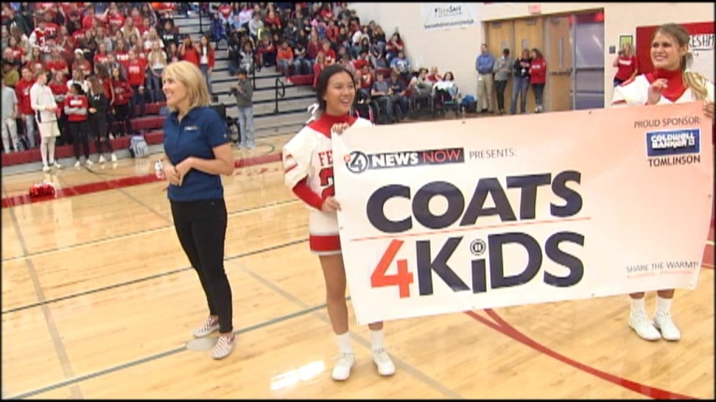 PHOTOS: Ferris High School hosts rally for Coats 4 Kids