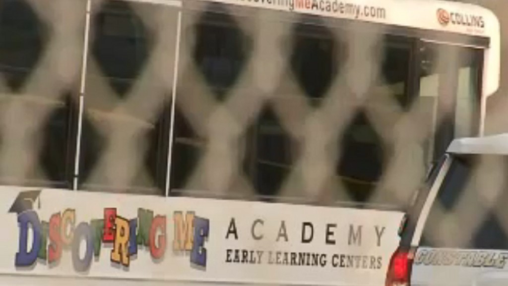 A boy dies after he's left in a day care bus for more than three hours while temperatures soared