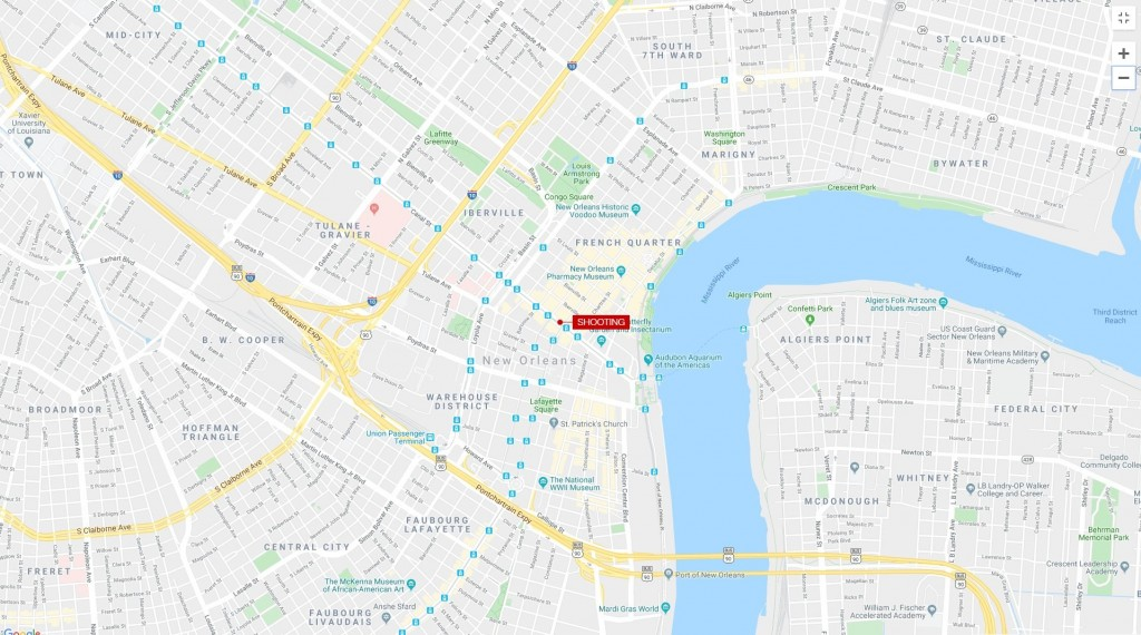 10 injured in shooting near French Quarter
