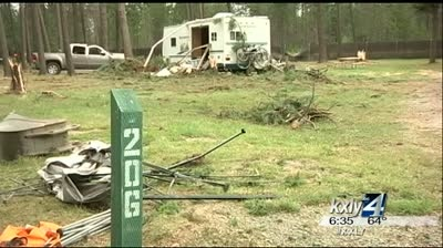 Storm crushes cars, motorhomes at Silverwood
