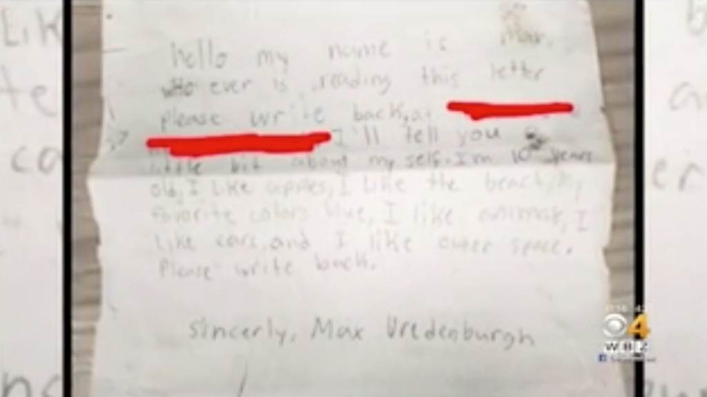 French man finds 9-year-old message in bottle from Massachusetts