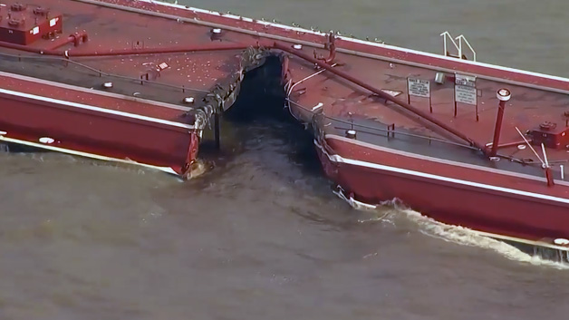 Barge collision shuts down Texas shipping channel