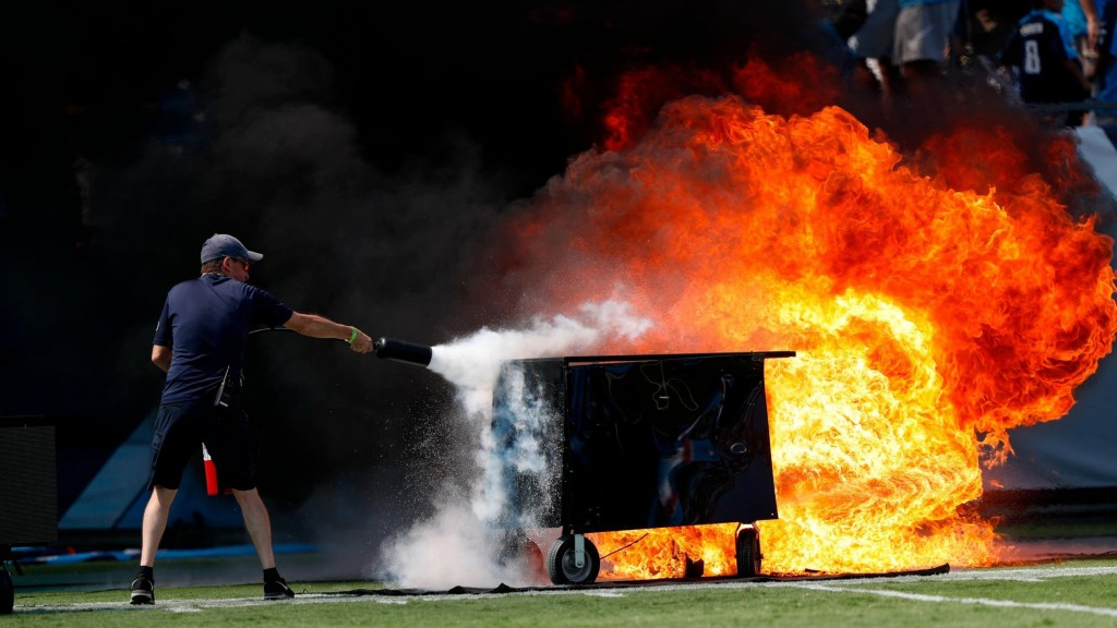 Titans leave field on fire during home opener