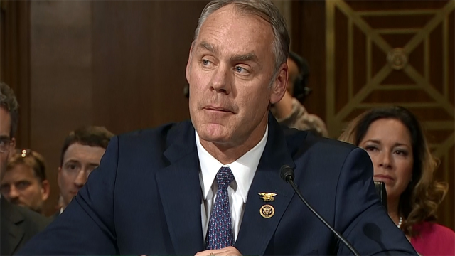 Zinke refers to himself as a geologist. That's a job he's never held