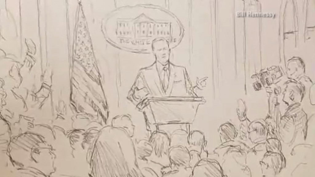 With cameras banned, CNN sends sketch artist to White House briefing