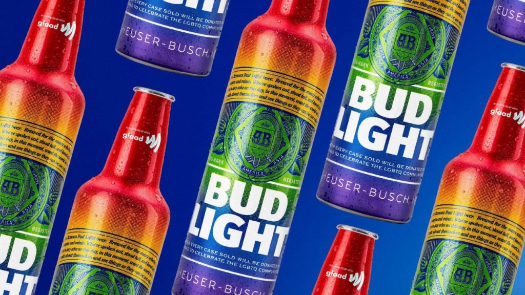 Bud Light will sell beer in rainbow bottles in June for Pride Month