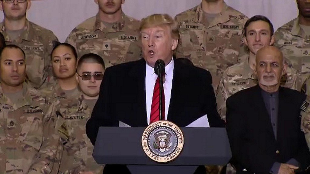 President Trump surprises troops in Afghanistan