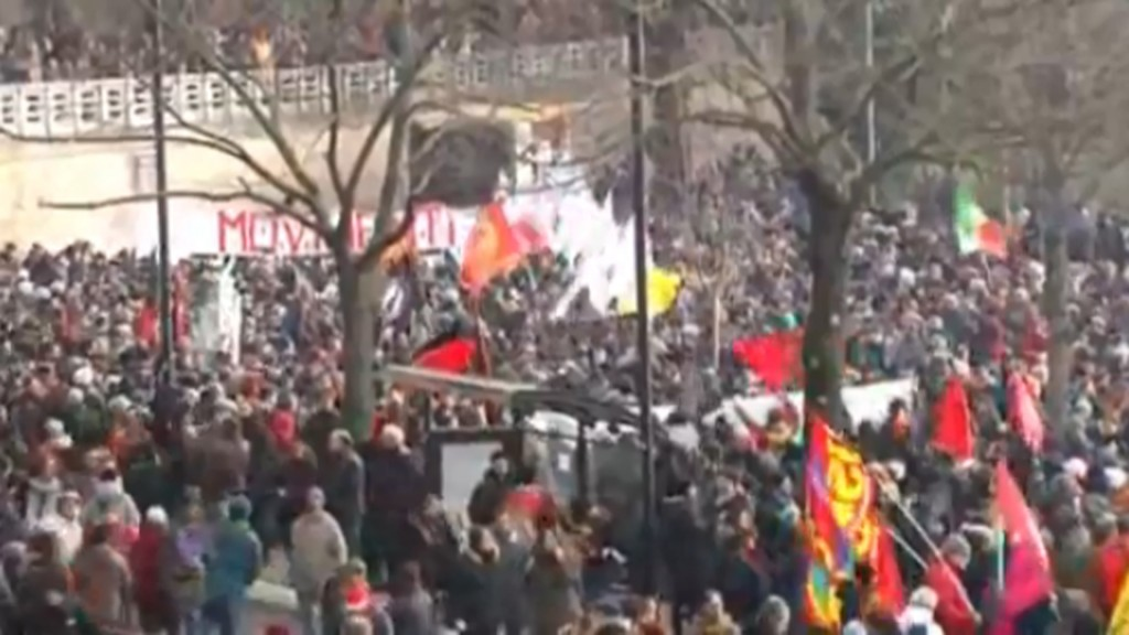Italians protest against fascism following shooting of African migrants