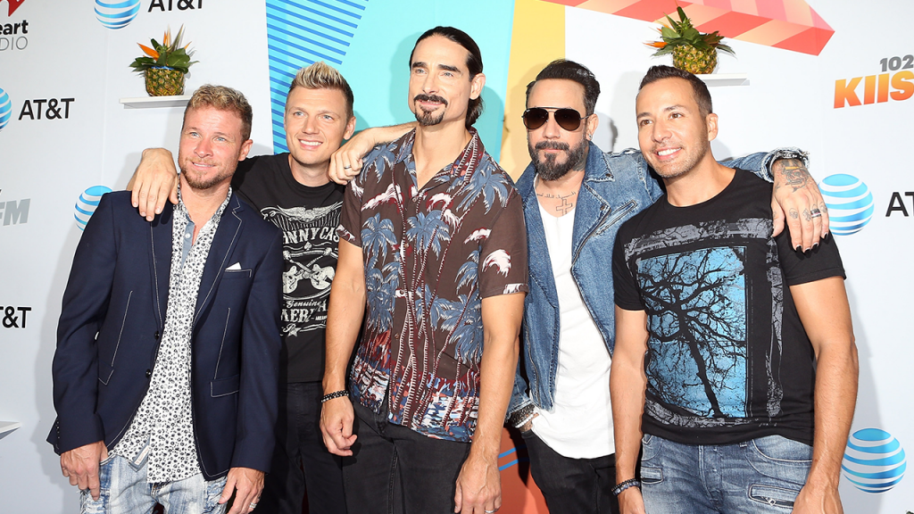 Backstreet Boys perform 'I Want It That Way' with classroom instruments