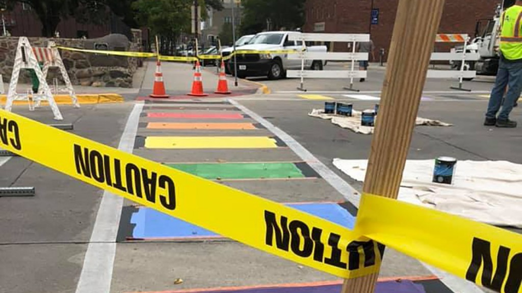 Iowa town refuses to remove its rainbow crosswalks