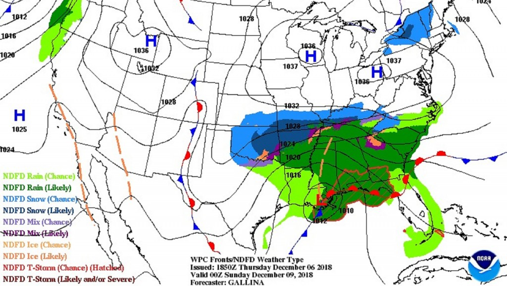 Snow to blanket the South this weekend