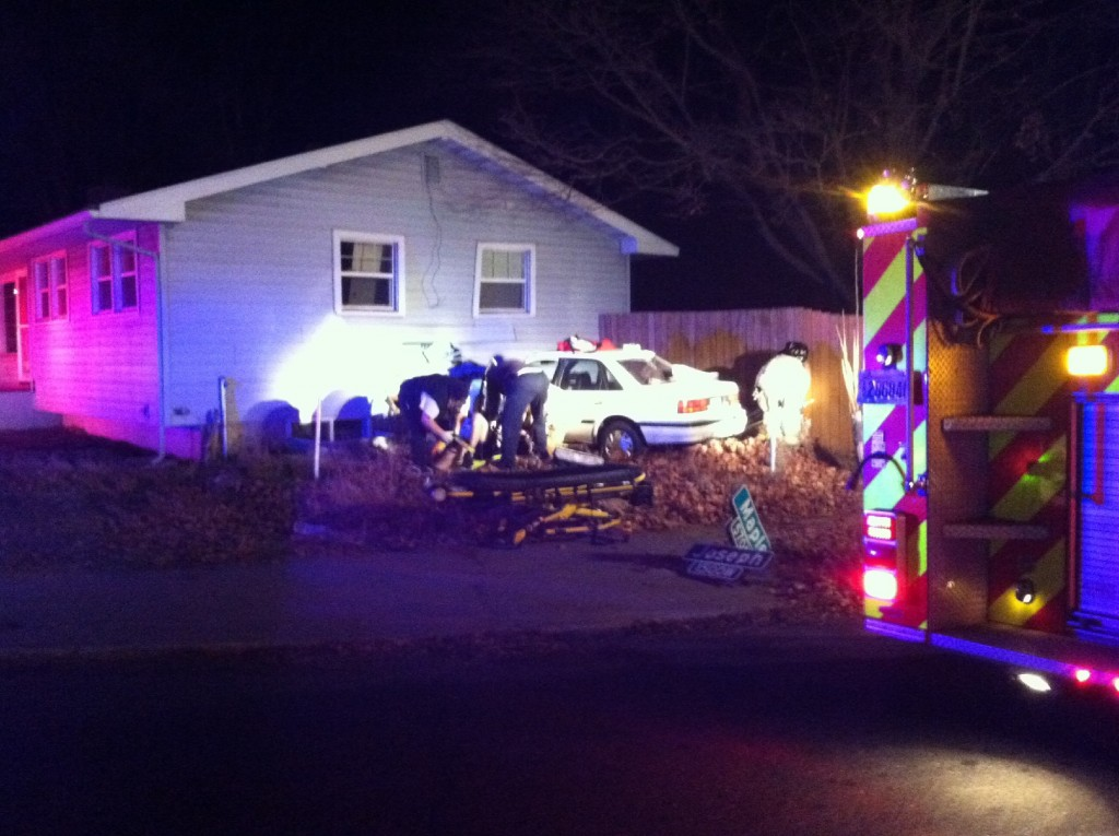 Car crashes onto woman's property for third time