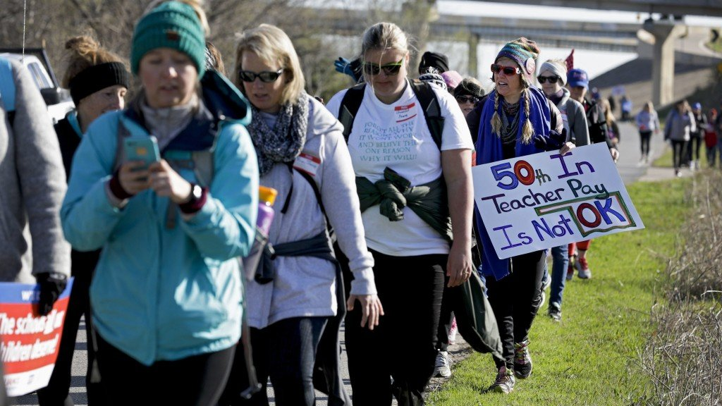 After marching 7 days, Tulsa teachers to confront lawmakers