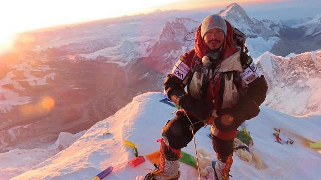Nepalese climber shocked by climate change effects