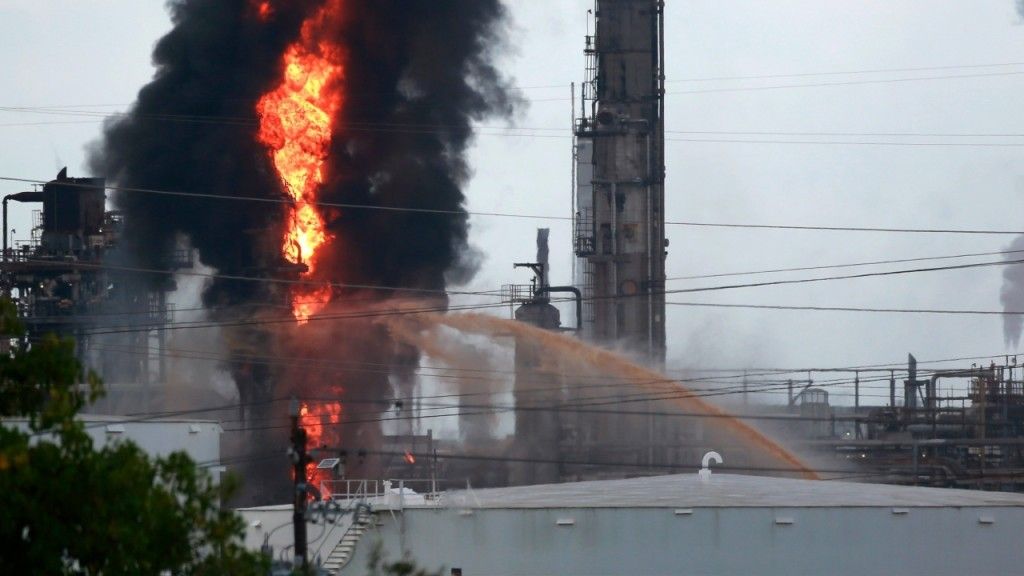 Harris County, Texas, sues ExxonMobil after fire at Baytown plant
