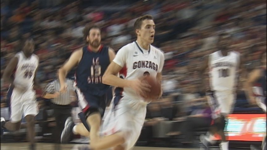 Dranginis leads Gonzaga to 104-57 win over LC State