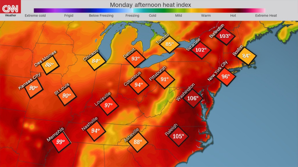Northeast swelters under the worst heat wave of the year